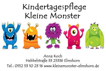 """Kindertagespflege """"kleine Monster""""  - Kindertagespflege/Tagesmutter Elmshorn"""